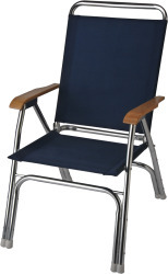 High Back Deck Chair, Navy Blue