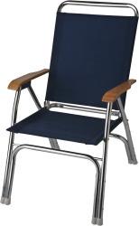High Back Deck Chair, Navy Blue