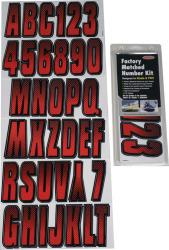 Letter/Number Set, Red/Black