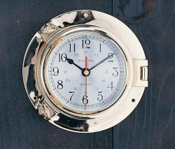 "Porthole Clock, 9"" - High Shine"