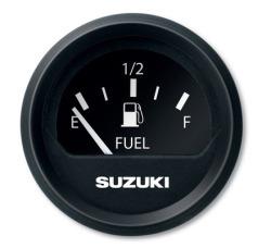 """2"""" Black Fuel Gauge - Suzuki"""
