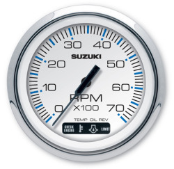"""4"""" White Tachometer with Monitor Functio …"""