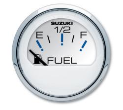 """2"""" White Fuel Gauge - Suzuki"""