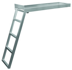 4 Step Under Deck Ladder, Flat Front, Anodize …