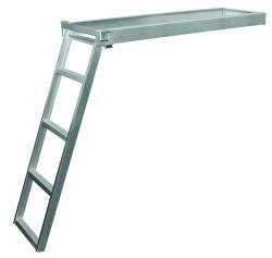 4 Step Under Deck Ladder, Round Front, Anodiz …