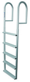 5 Wide Step Stationary Ladder, Aluminum - Jif …
