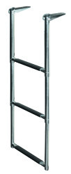 3 Step Telescoping Drop Ladder, Stainless 316 …