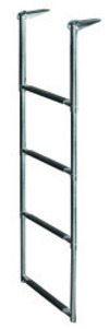 4 Step Telescoping Drop Ladder, Stainless 316 …
