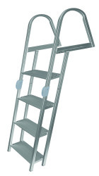 4 Step Folding Ladder, Anodized Alum, Mountin …
