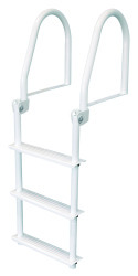 3 Step Flip Up Dock Ladder, White Galv - Jif  …