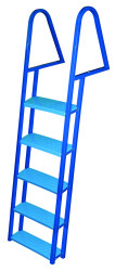5 Step Dock Ladder, Blue Powder Coated - Jif  …