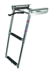 2 Step Under Platform Sliding Ladder, Stainle …