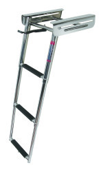3 Step Under Platform Sliding Ladder, Stainle …