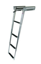 4 Step Under Platform Sliding Ladder, Stainle …