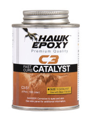 Fast Cure Catalyst Size 1, .4 PT - Hawk Epoxy
