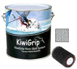 KiwiGrip Nonskid Coating, Gray, 4 Liter w/ Ro …