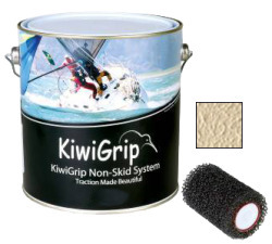 KiwiGrip Nonskid Coating, Cream, 4 Liter w/ R …