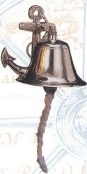 """Ships Anchor Bell, 5""""  - High Shine"""