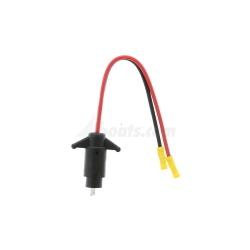 12V Male Plug, 10 ga. 2-Pin