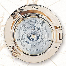 """Porthole Barometer, 7 1/2""""  - High Shine"""