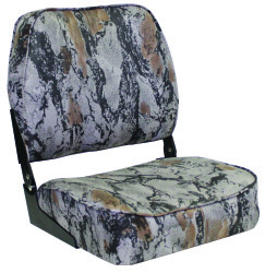 Low Back Camo Folding Boat Seat Low Back, Nat …