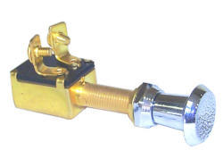 Push Pull Switch, OFF-ON-SPST, 2 Screw Termin …