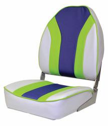 Mariner Mid-Back Folding Seat, Sky Grey-Royal …