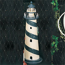 "Wooden Lighthouse Model, Red, 24""  - Hig …"