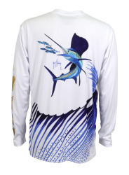 Guy Harvey Men's Sailfish Logo Pro UVX Pe …