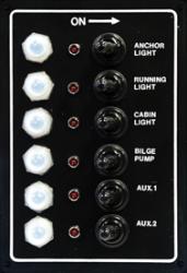 LED Switch Panel, 6-Gang - Seasense