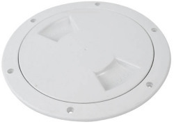 "White 6"" Boat Deck Plate - Attwood"