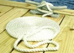 Nylon Dockline, White - 3/8X25 - Seachoice