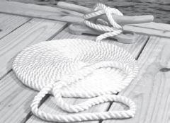 "Twisted Nylon Dock Line, White, 1/2"" X 3 …"
