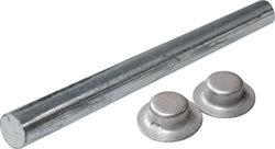 """Zinc Plated Roller Shaft, 5/8""""x13-1/2&qu …"""