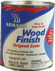 Armada Wood Finish, Dark Satin, Quart - Blue  …