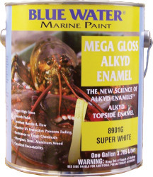 Mega Gloss Alkyd, Super White, Quart - Blue W …