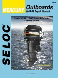 Mercury Outboard ONLY, 40-115HP 1965-1989 Rep …