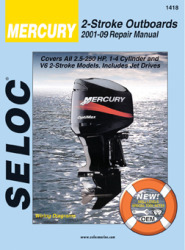 Mercury Outboard ONLY, 2.5-250HP 2001-2014 Re …
