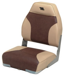 Mid-Back Folding Bass Boat Seat, Sand-Brown - …