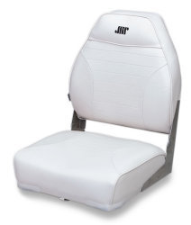 Mid-Back Folding Bass Boat Seat, White - Wise …