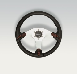 Gorgona Steering Wheel w/ Burl Wood Inserts - …