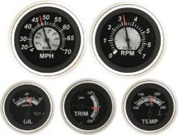 Oil Pressure, 0-80 PSI, Sender Required  - Se …