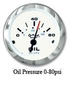 Oil Pressure, 0-80 psi - SeaStar