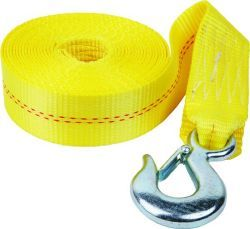 Heavy Duty Trailer Winch Strap and Hook 2&quo …