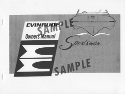 1964 Evinrude Boat Owner's Manual 976289  …