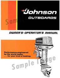 1958 Johnson Outboard Owner's Manual 3771 …