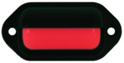 LED Mini Dual Mount Boat Light, Black, 2 Red  …