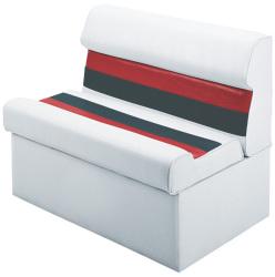 "Deluxe Pontoon 37"" Lounge Seat, White-Re …"