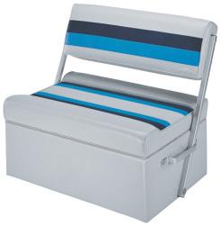 Deluxe Pontoon Flip Flop Seat, Light Gray-Nav …