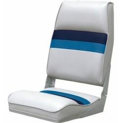 Deluxe Pontoon Fold Down Seat, Light Gray-Nav …